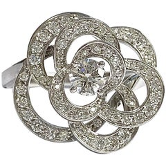 Chanel Camelia Diamond White Gold Flower Ring