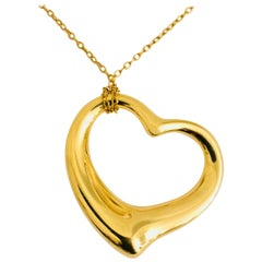 Elsa Peretti for Tiffany & Co. 18 Karat Largest Floating Heart on Chain