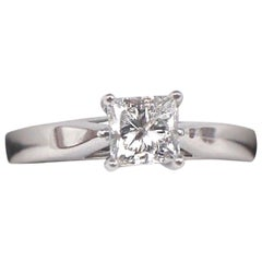 Celebration Grand Diamond Ring Princess 1.00 Carat G I1 14 Karat White Gold