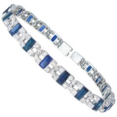 Raymond Yard Art Deco Sapphire and Diamond Bracelet