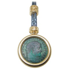 Bulgari Ancient Coin Gold Necklace