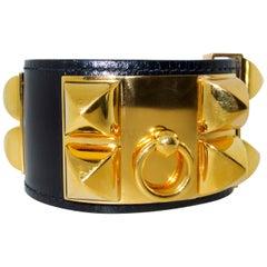 Hermes Collier De Chien Cuff Bracelet