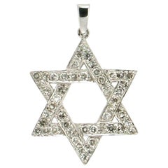 Star of David Gold Diamonds Pendant