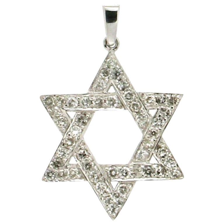 Star of David Gold Diamonds Pendant