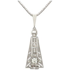 Art Deco Diamond and White Gold Pendant