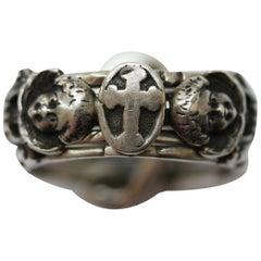 Rare Silver Neo Renaissance Angel Puzzle Ring