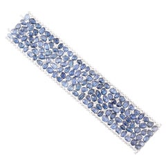 18 Karat Blue Sapphire and Diamond Bracelet