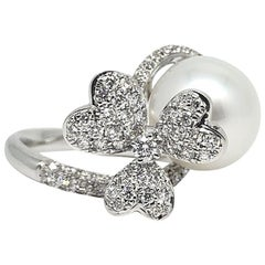 Gilin White Southsea Pearl Diamond Ring