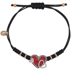 Sicis Heart Bracelet Rose Gold White Diamonds Micromosaic