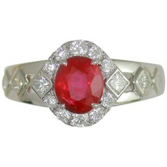 Frederic Sage 1.63 Carat Ruby and White Diamond One of a Kind Ring