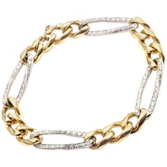 Cartier Diamond Link Yellow and White Gold Bracelet