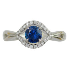 Frederic Sage 0.81 Carat Sapphire and White Diamond One of a Kind Ring