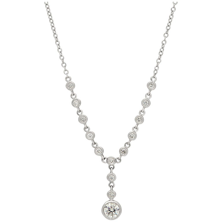 .86 Carat Diamond Necklace Set in 18 Karat White Gold