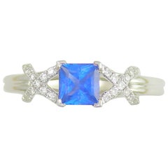Frederic Sage 1.22 Carat Sapphire and White Diamond One of a Kind Ring
