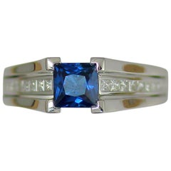 Frederic Sage 1.04 Carat Sapphire and White Diamond One of a Kind Ring