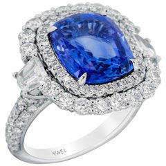 GRS Certified Sapphire Diamond and White Gold Ring