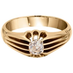 .60 Carat Old Mine Cut Diamond Ring circa 1880, 18 Karat Gold