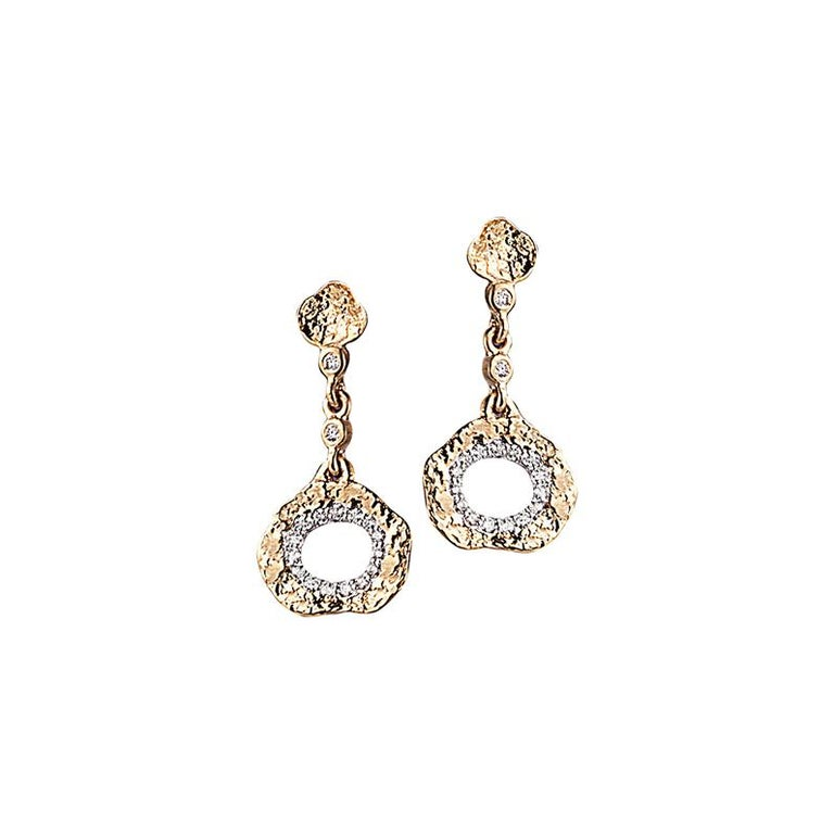 Coomi 20K Flower Earrings with Diamonds