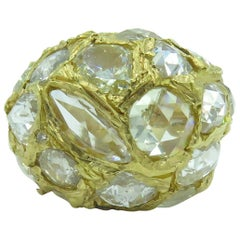 Attilio Codognato Gold and Diamond Ring