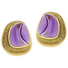 Burle Marx Forma Livre Carved Amethyst Earring