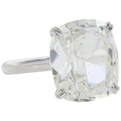 9.60  Carat GIA Certified F VS1 Cushion Cut Diamond Solitaire Engagement Ring