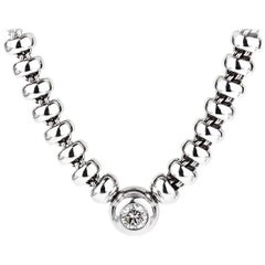 Chopard Les Chaines Diamond Solitaire White Gold Necklace