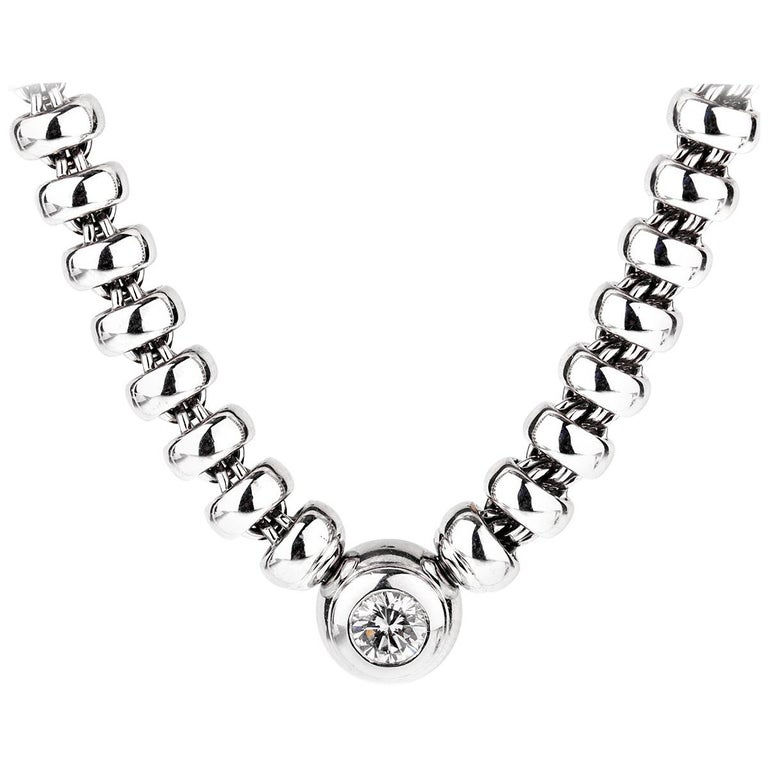 Chopard Les Chaines Diamond Solitaire White Gold Necklace
