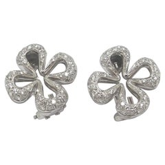 1.54 Carat Total Weight Diamond 18 Karat White Gold Earrings