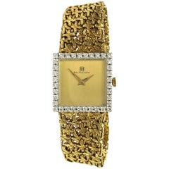 Balenciaga Ladies White and Yellow Gold Diamond Bezel Vintage quartz Wristwatch