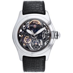 Corum stainless steel Bubble Skeleton automatic Wristwatch
