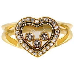 Chopard Happy Diamond Gold Diamond Ring