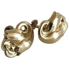 Georg Jensen Gilded Sterling Silver Earrings No 100
