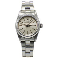 Rolex Ladies Oyster Perpetual 76080 Stainless Steel Silver Dial