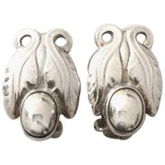 Georg Jensen Sterling Silver Ear Clips No 108