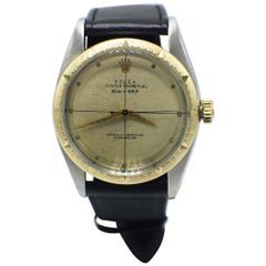 Vintage Rolex Oyster Perpetual 6582 14 Karat Yellow Gold Zephyr Dial