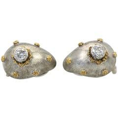 Buccellati White and Yellow Gold Diamond Earrings