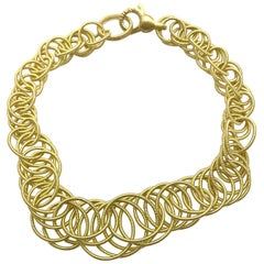 Buccellati Hawaii 18 Karat Gold Interlocking Circle Link Bracelet
