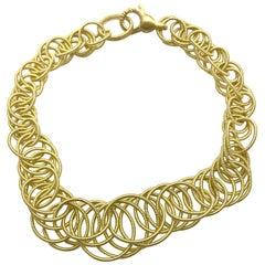 Buccellati Hawaii 18 Karat Gold Interlocking Circle Link Bracelet