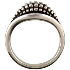 Georg Jensen Ring of Sterling Silver, Model 425