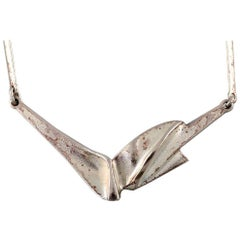 Björn Weckström for Lapponia Vintage Modernist Sterling Silver Necklace