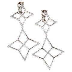"Earrings Palladium with White Diamond ""Twinkle"""