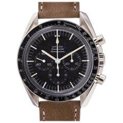Omega stainless steel Speedmaster Pre Moon Buzz Aldrin Model Wristwatch, c 1965