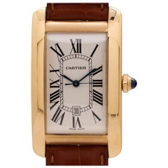 Cartier yellow gold Tank American Extra Large Automatic wristwatch, circa 1990s