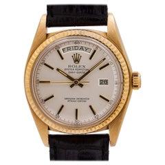Rolex 18 Karat Yg Day Date Ref# 1803, circa 1977