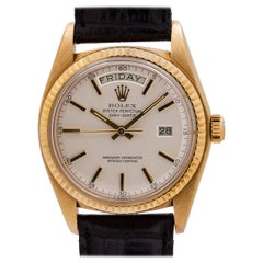 Rolex Yellow Gold Day Date self winding Wristwatch Ref 1803, c 1977