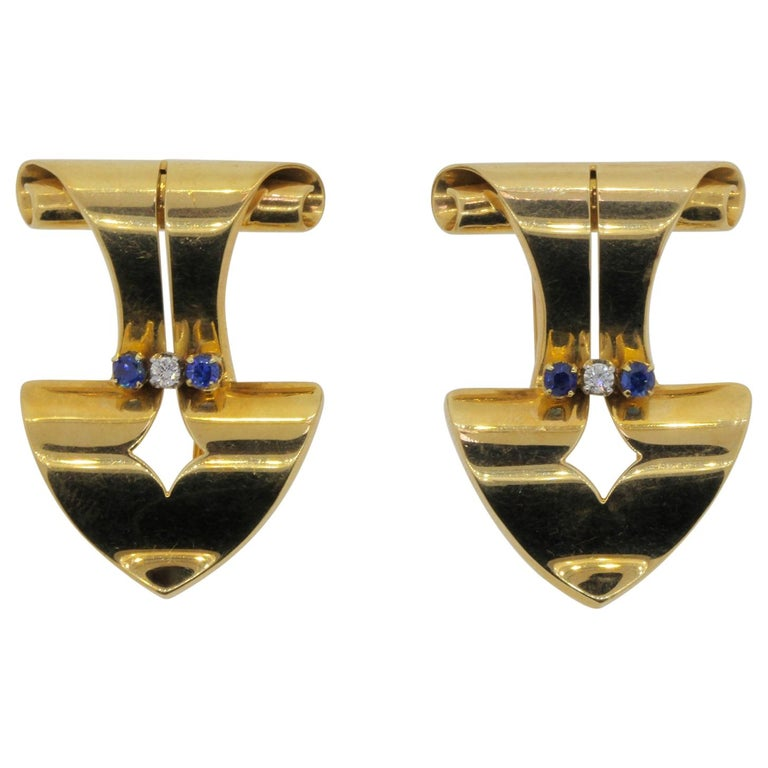 Retro Gold Clips Brooches