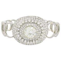 Art Deco Diamond White Gold Bracelet