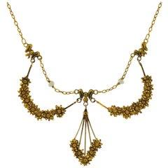 French Nouveau Gold Necklace