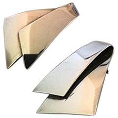 Georg Jensen Sterling Silver Earrings 'Clips' No 201