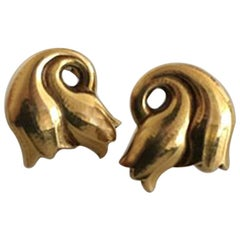Georg Jensen 18 Karat Gold Earrings 'Clips' No 339